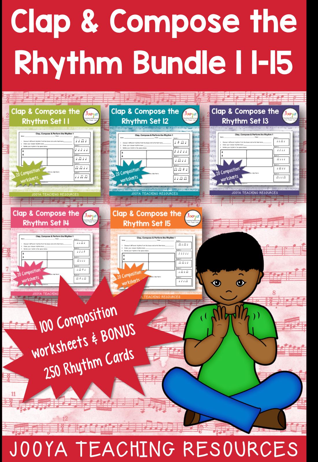 Music Rhythm Composition Worksheets Bundle
