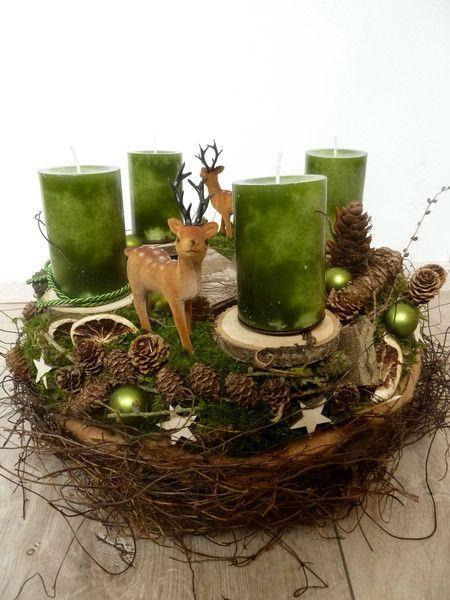 Adventskranz XL von Katrin Liebschner, Adventskranz grün von Perla´s Polarstation auf ETSY