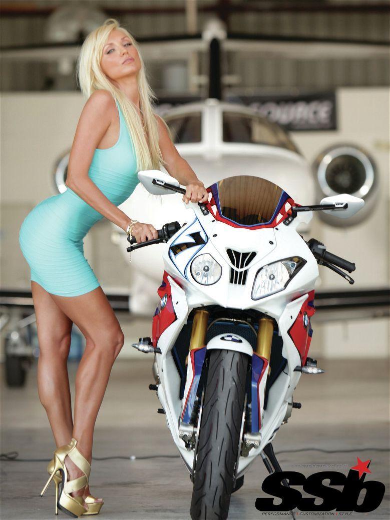 Bmw S1000rr With Babe Bmw Streetbikes Bike Sport