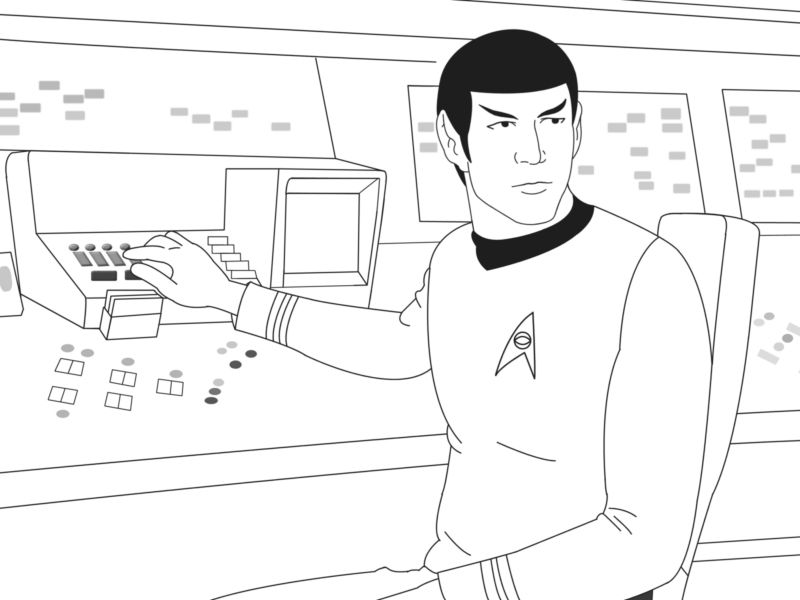 Spock Colouring Pages Star Trek Party Coloring Pages Colouring Pages