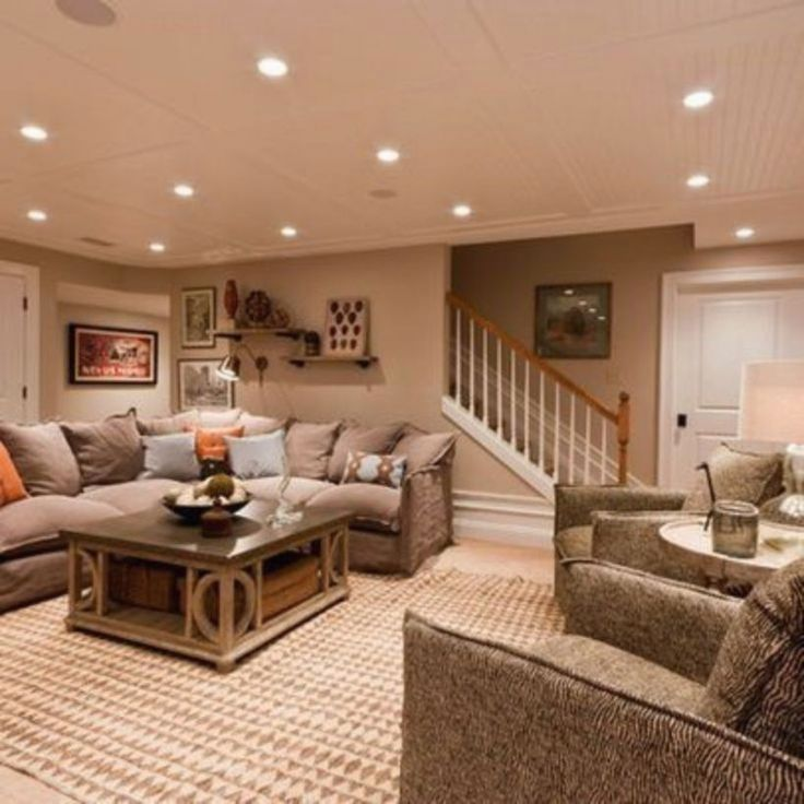 55 Creative Living Room Basement Designs Ideas images