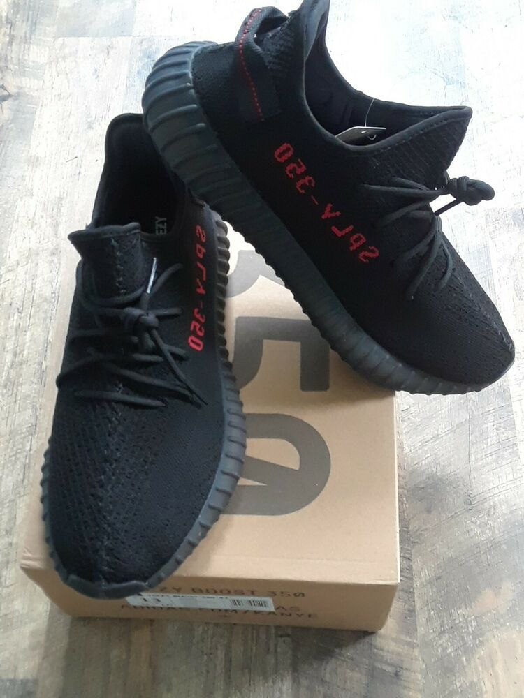 Adidas Yeezy Boost 350 V2 Black Bred Mens Size 11 5 New With Box