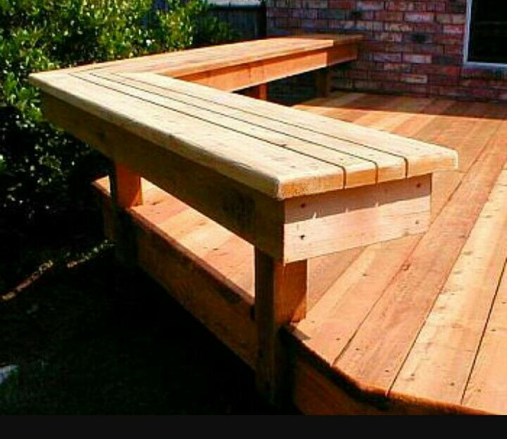 Deck Bench Seating: Pin By Bren Smith-Stone On Deck Ideas