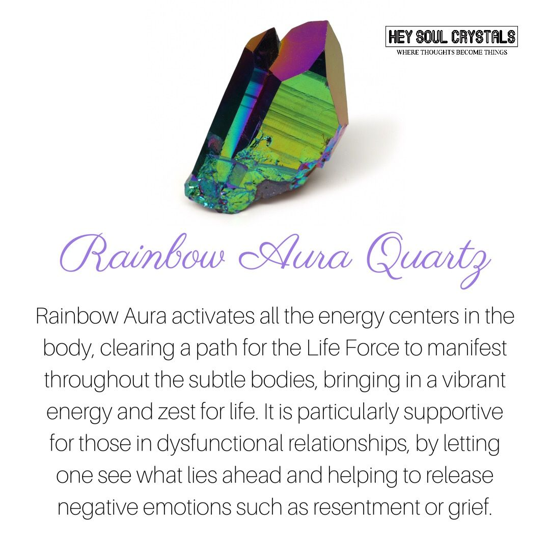 Rainbow Aura Quartz Crystalmeanings Crystal Meanings And Uses