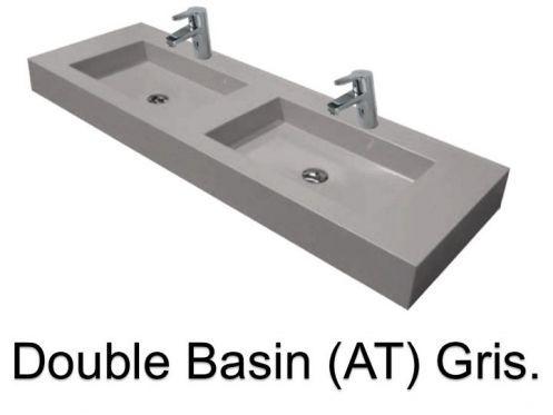 Doppel Waschbecken Ausgesetzt Oder Einbauwaschtisch Breite 140 Cm