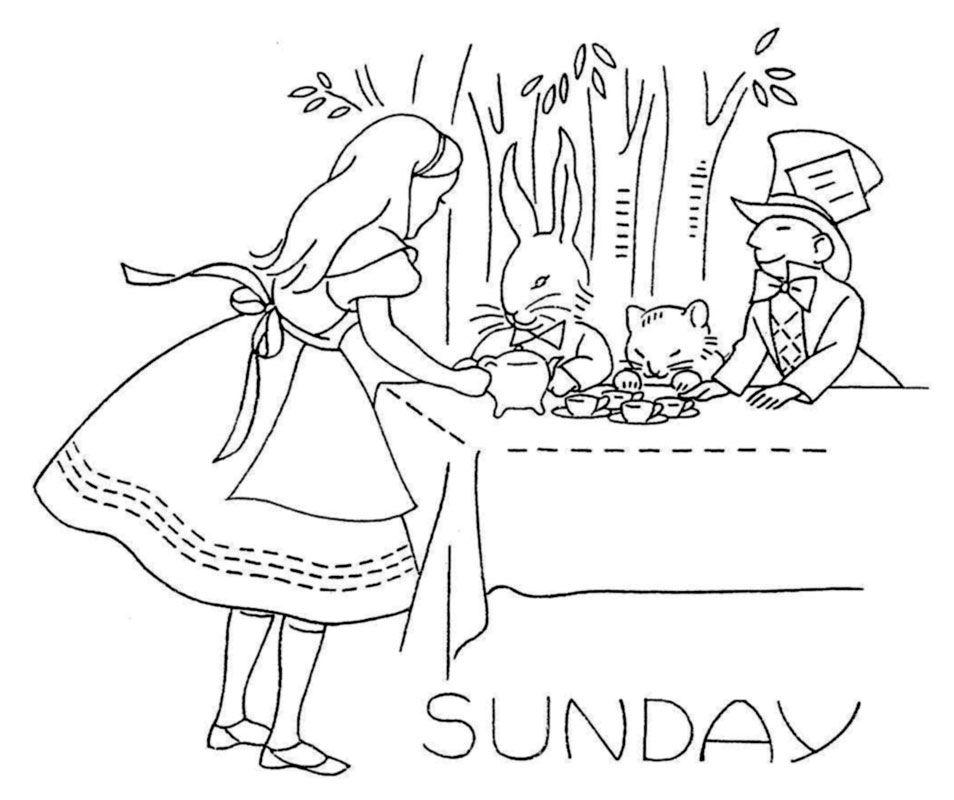 Free Pattern Friday — DOW Alice in Wonderland | Alice in wonderland ...