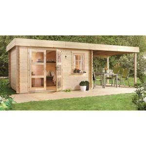 LOUNGE V2 Abri de jardin bois - 8,15 m² - 28mm - Achat / Vente ...