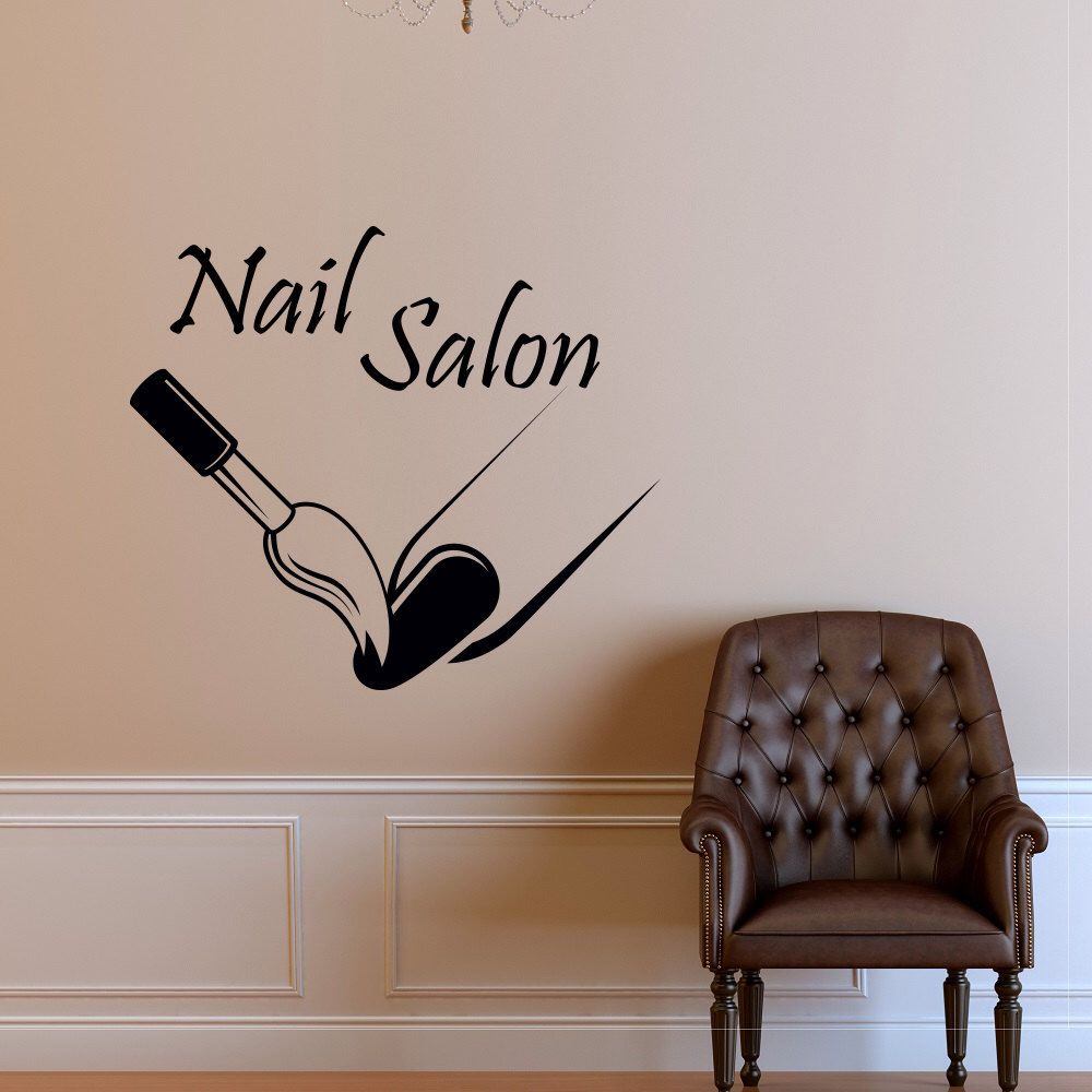 Custom Nail Salon Wall Decal Vinyl Sticker Manicure Nail Polish - Vinyl wall stickers custom