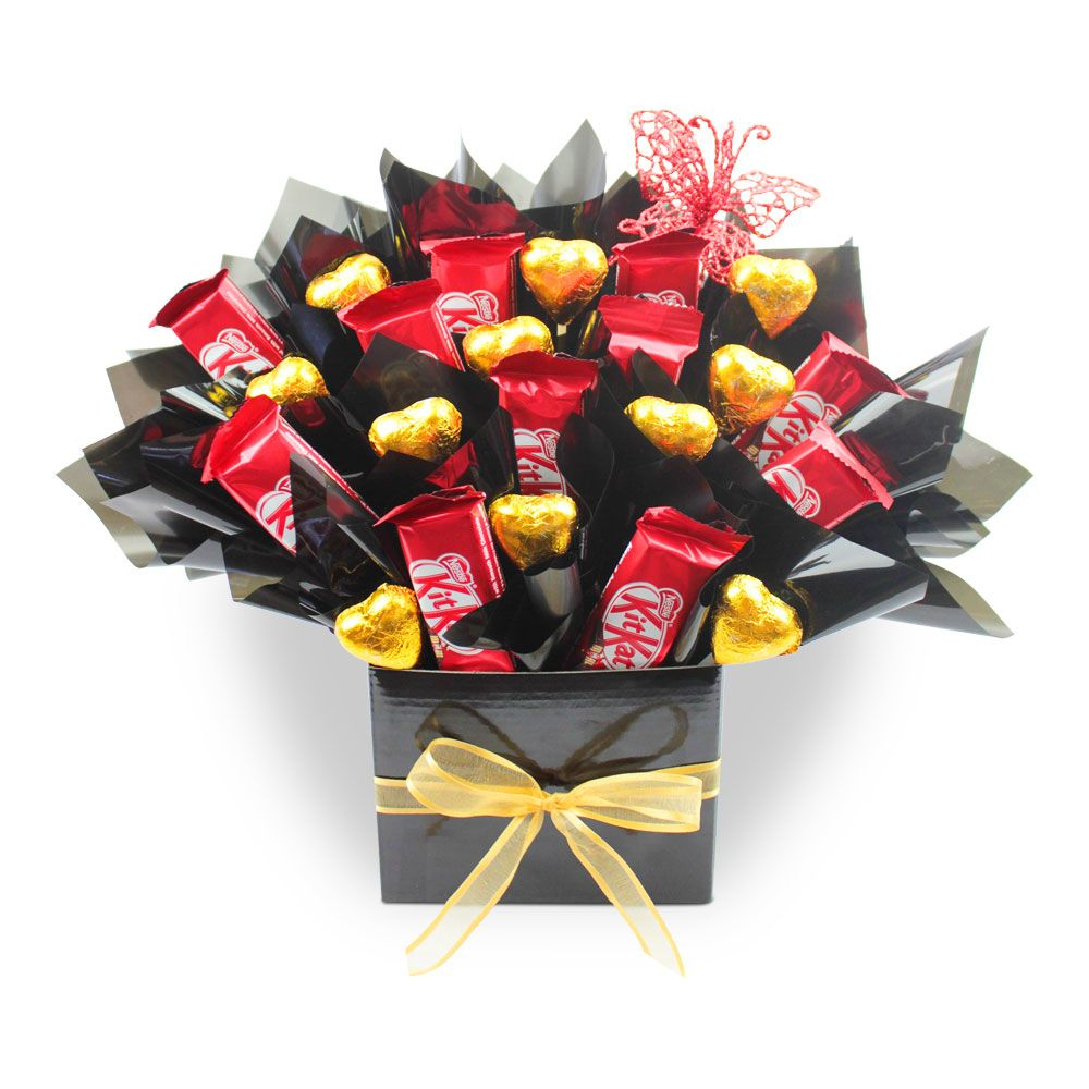 Kit Kat Delight Delicious Buds Chocolate Chocolate Bouquet Diy Candy Bouquet Diy Gift Bouquet