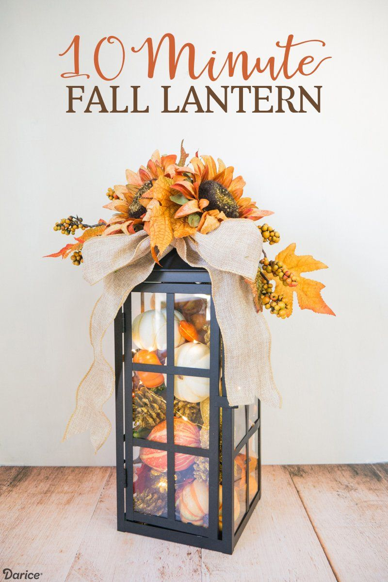 10 Minute Fall Lantern images