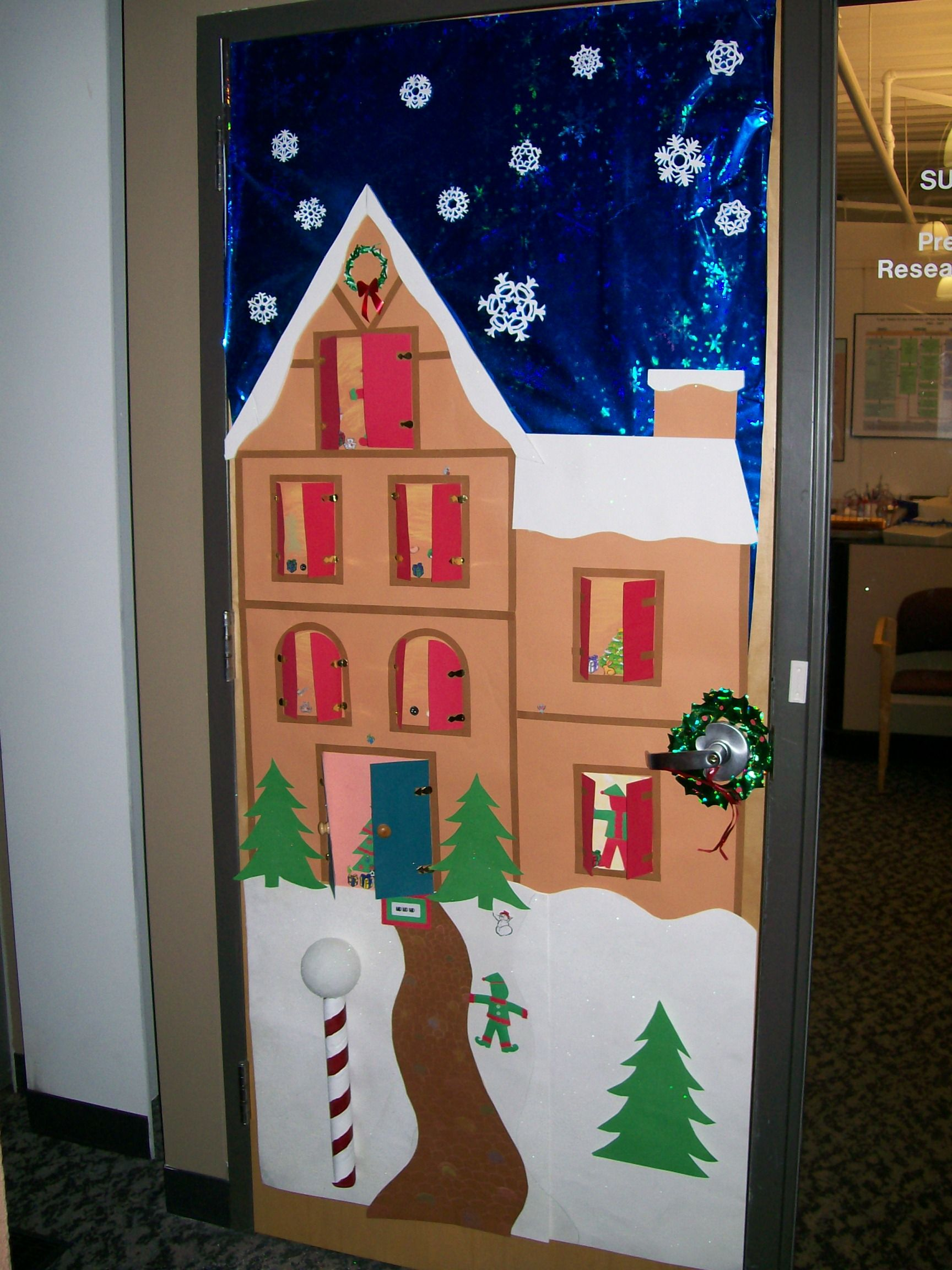Exceptional Holiday Door Decorating Ideas For The Office Part - 5: Christmas+Classroom+Door+Decorating+Contest | Heard From Karen Today. So.  Office Christmas DecorationsSchool Door DecorationsHoliday ...