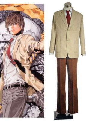 Death Note Yagami School Uniform Cosplay Outfits Costumes