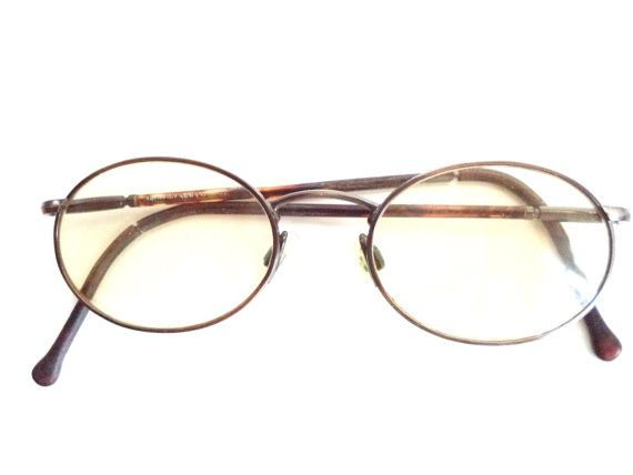 0c3f113e42 Giorgio Armani Eyeglasses Vintage Small Oval Flex Arm Oxford Metal Antique  Silver Pewter Frames 48-18 GA made in Italy glasses unisex…