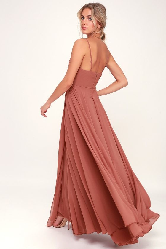 Lulus | All About Love Rusty Rose Maxi Dress