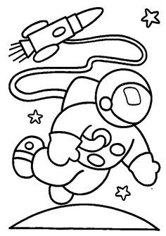 astronaut coloring pages for preschool | Astronauts Coloring Pages ... | 335x236
