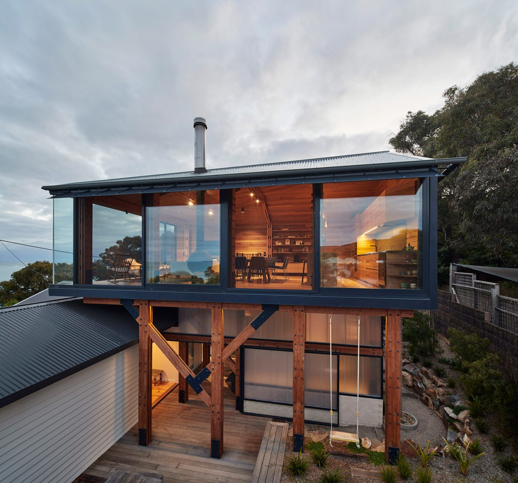 The Dorman House By Austin Maynard Architects In Lorne, Australia Is An  Extension Of A Seaside Shack.