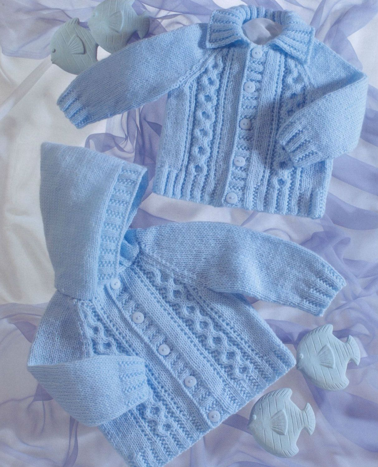 Knitting Patterns Baby Sweaters Hoods Knit Baby Cabled Hooded | Knit ...