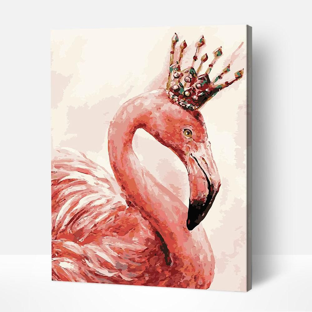 Flamingo King Paint By Number Oil Painting On Canvas Butterfly Art Painting