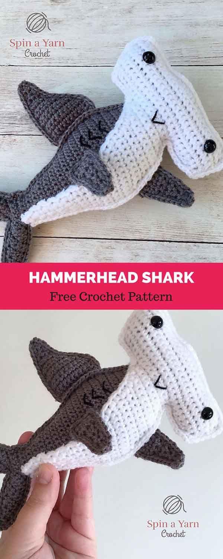 Hammerhead Shark [ FREE CROCHET PATTERN | Crochet: Amigurumi ...