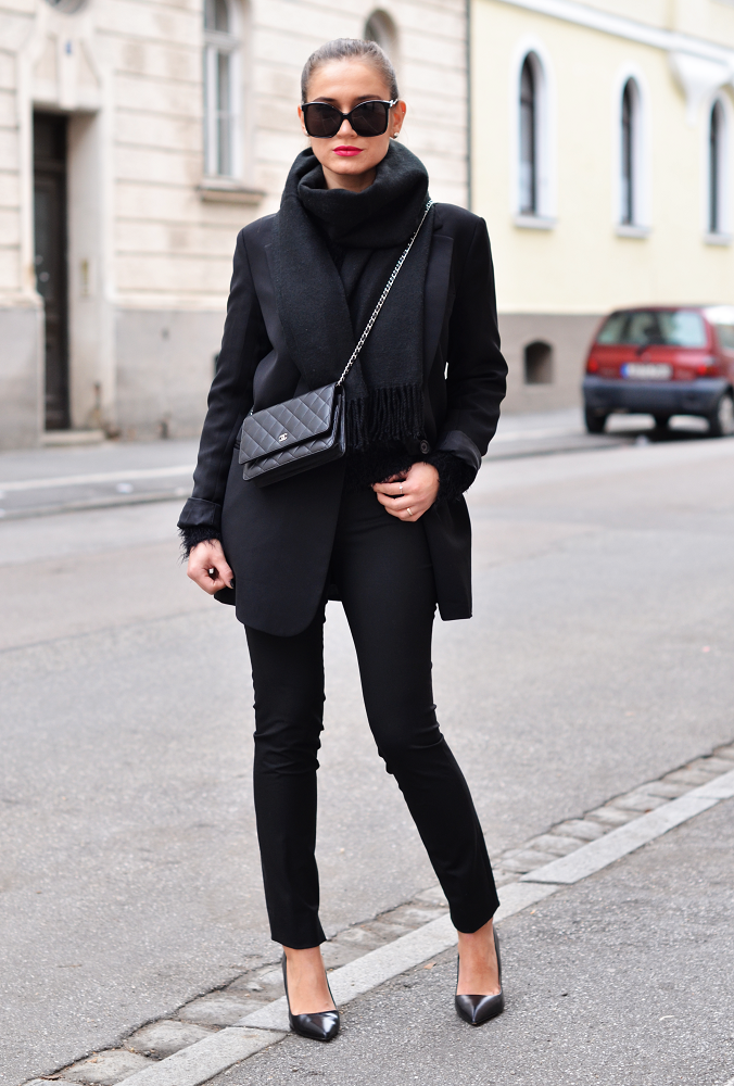 a298ccd4aed9c4 agnesska fashion: Todays Outfit | Whole black outfit | winter ...