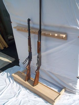 Details About Unfinished Oak Gun Rack For Closet Wall With