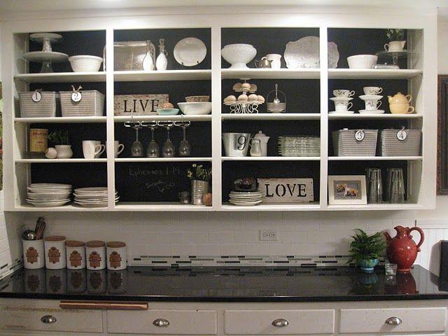 Adorable kitchen shelf!