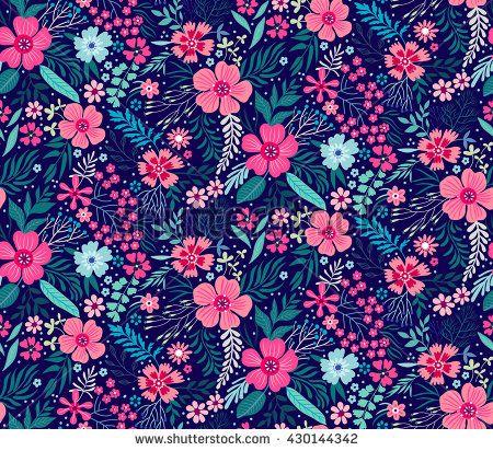 cute pattern in small flower small pink flowers dark