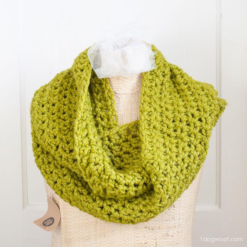 Encantador Patrón De Crochet Bufanda Infinito De Encaje Libre Ideas ...