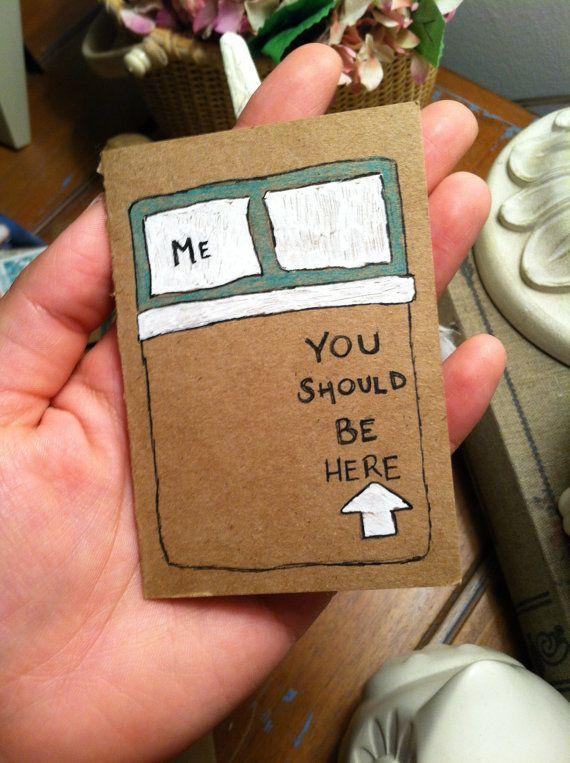 Mini Hand Drawn Card - Sie sollten hier sein #drawn #sollten,