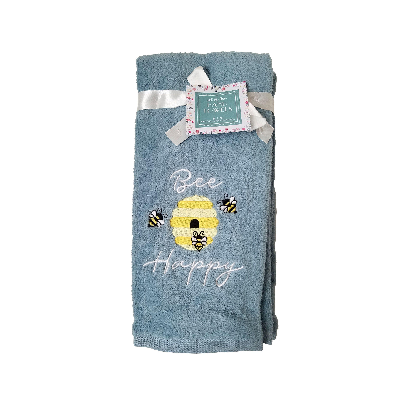 Bees Grey Hand Towel