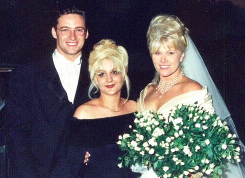 Image: Hugh Jackman and Deborra-Lee Furness with a lady during their wedding