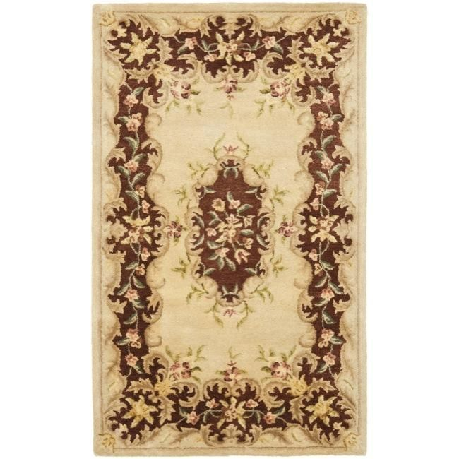 This European French inspired designs pays tribute to timeless Aubusson and Persian designs with floral motifs reproduced in a hand-tufted construction using an extra tight weaving and premium hand-sp