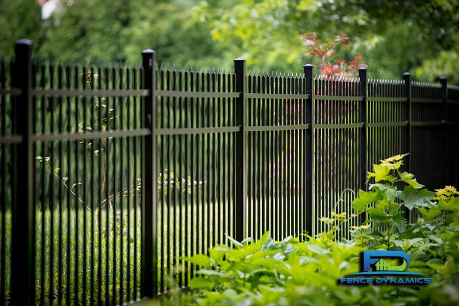 Elegant Black Aluminum Picket Fencing Is Just One Of The