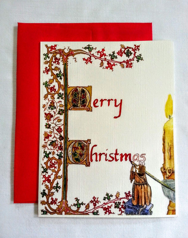 Medieval Christmas Card - Illuminated Manuscript Christmas Card ...