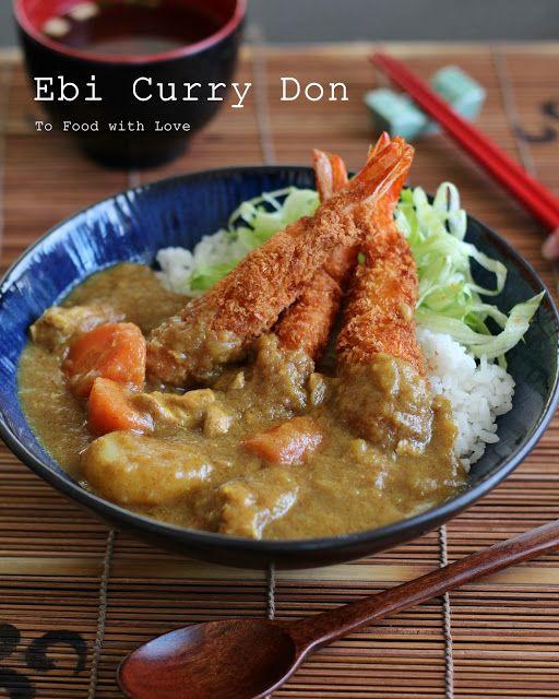 Ebi Fry Curry Don Fried Shrimp With Curry On Rice Katsu Recipes Ono Hawaiian Food Ono Kine Recipes