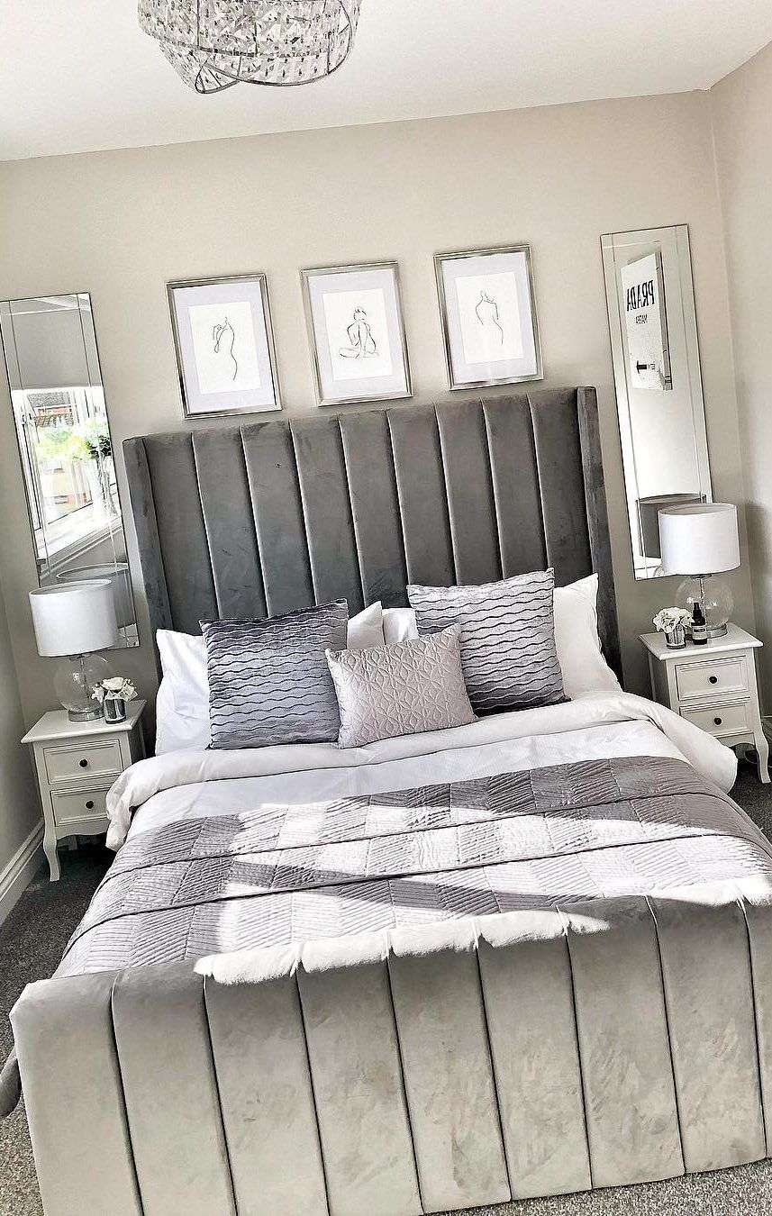 45 Beautiful And Modern Bedroom Decorating Ideas For This Year Page 26 Of 45 In 2020 Small Bedroom Decor Modern Bedroom Decor Small Bedroom Designs