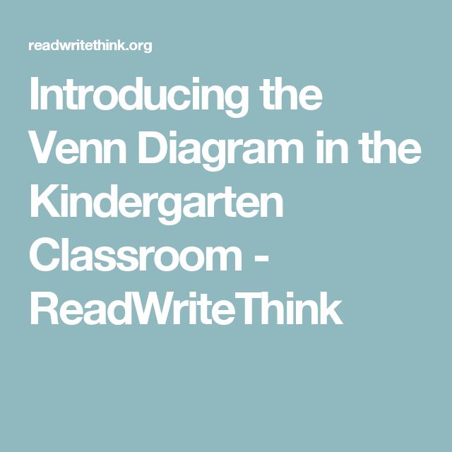 Introducing The Venn Diagram In The Kindergarten Classroom
