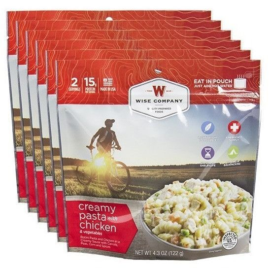 Wise Food Creamy Chicken Pasta Cook in the Pouch - 6 PACK