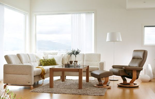 Cream Fabric Sofas Ekornes Co Uk Lounge Furniture Relaxing