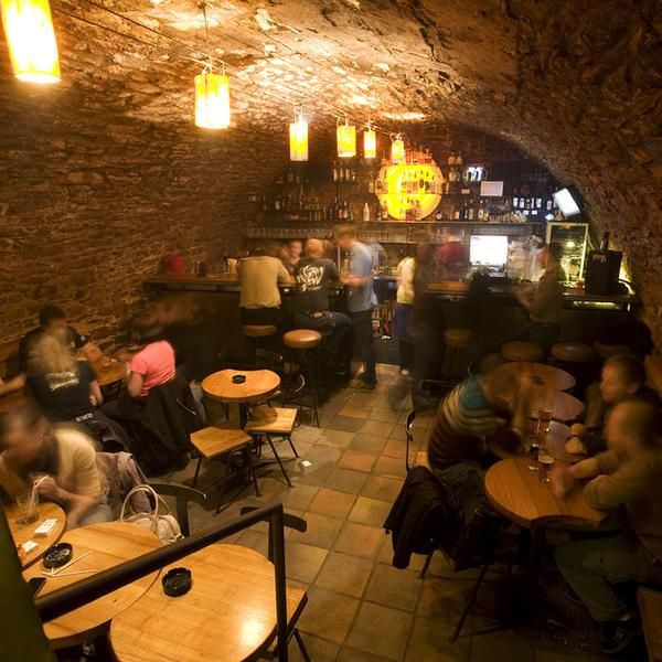 John And I Went To This Maze Of Cave Bars In Prague It