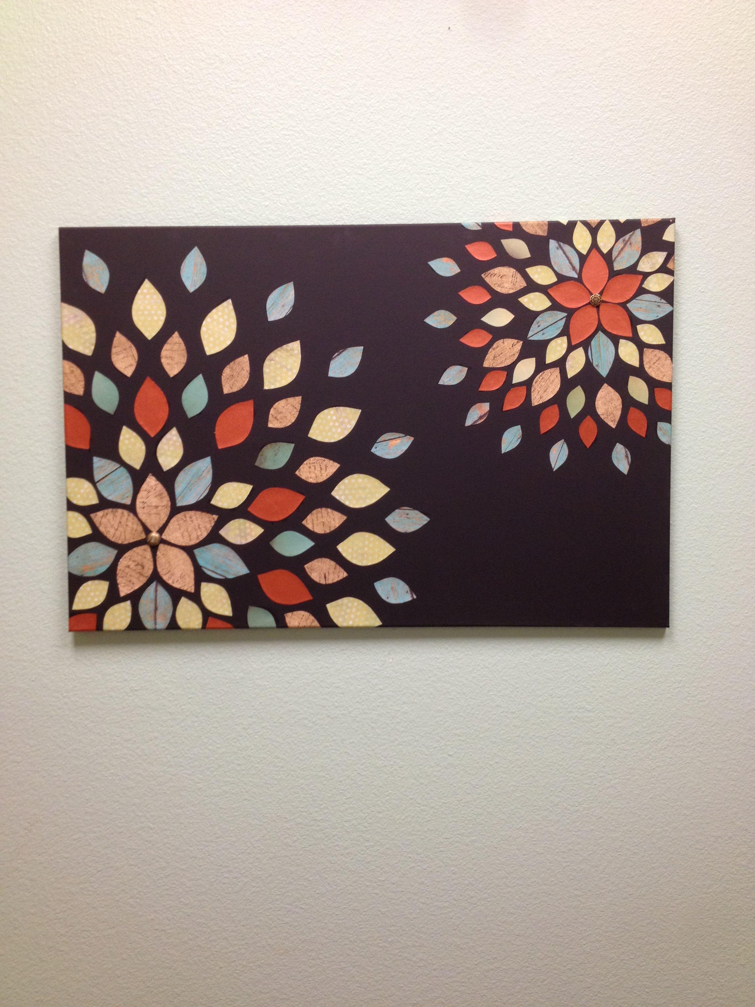 Scrapbook paper on canvas | DIY / Ideas | Pinterest | Scrapbook ...