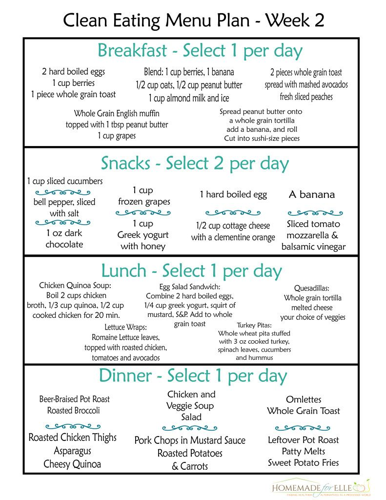 Clean eating meal plan free includes breakfast lunch dinner  snacks food pinterest menu planning and weekly plans also rh