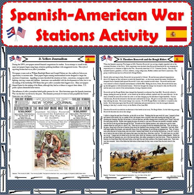 Spanish American War Stations Activity American War The Spanish