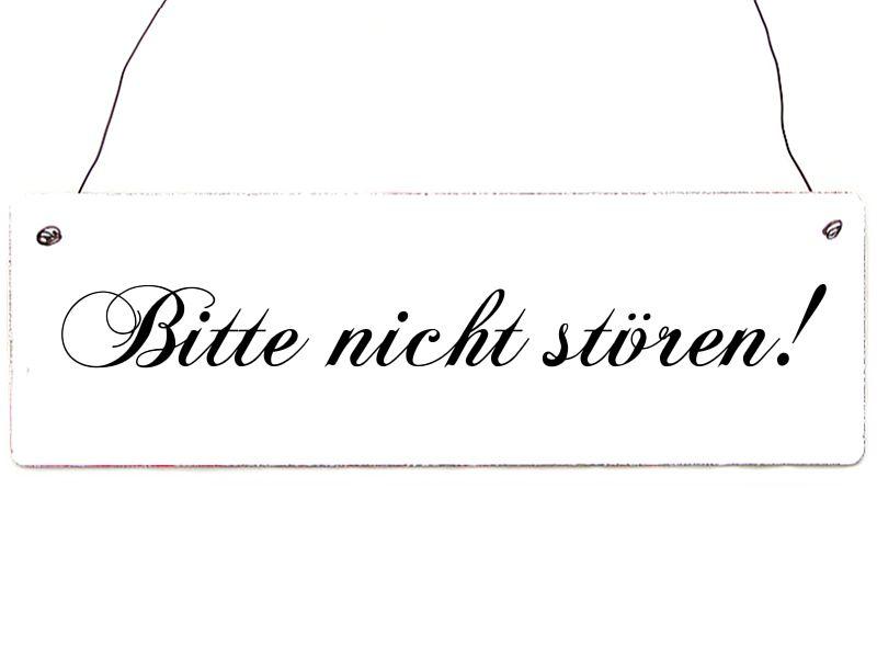WENDESCHILD WILLKOMMEN  BITTE NICHT STÖREN weiß von Interluxe via dawanda.com