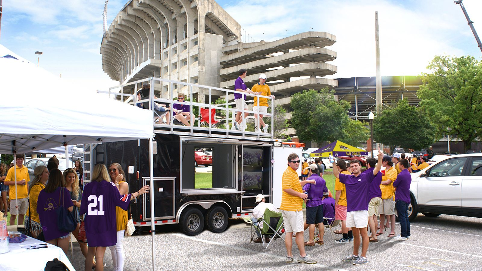 Tailgate at ECU football games in style with the T… US