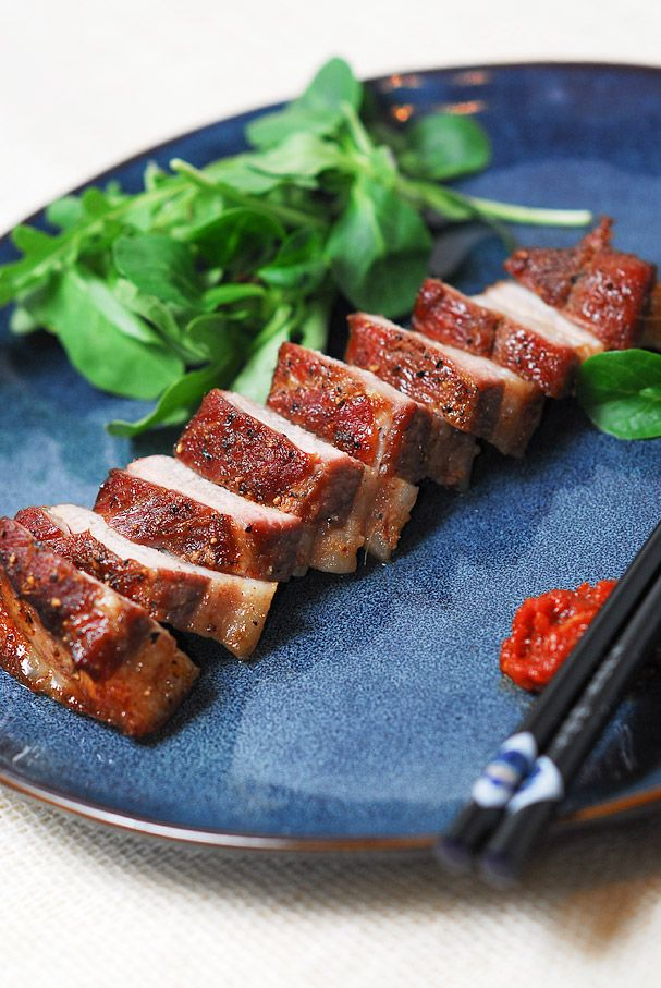 Oven Baked Korean Pork Belly - kimkim cooking | Internationale Küche ...