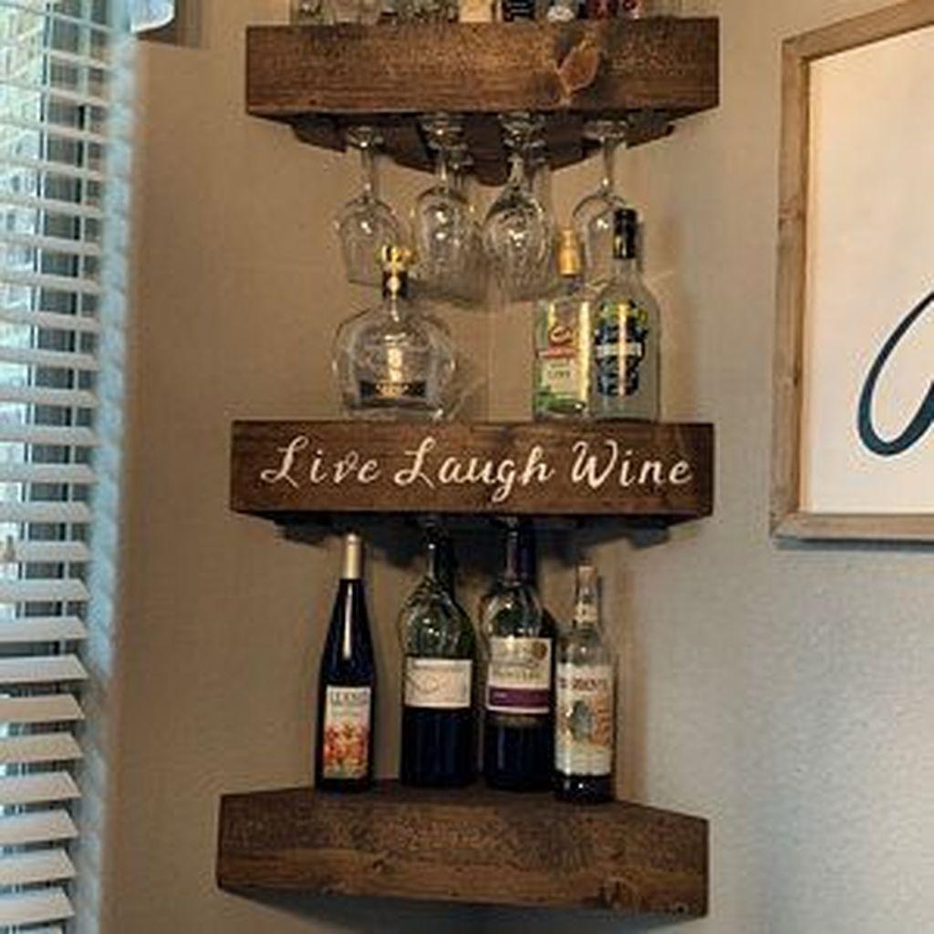 39 Superb Corner Floating Shelves Ideas For Your Room Corner Wood Wine Racks Corner Wine Rack Glass Shelves In Bathroom