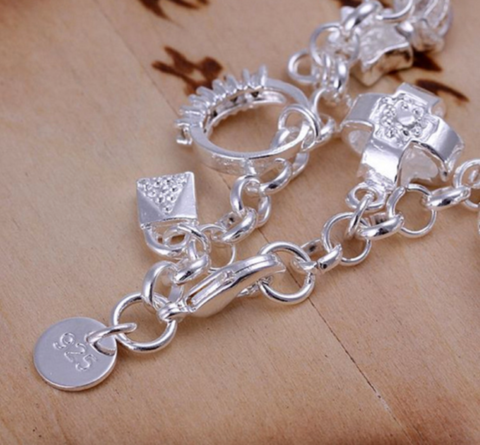 Party Charm Jewellery With Lobster Clasps Necklace Silver Plated Link Chains