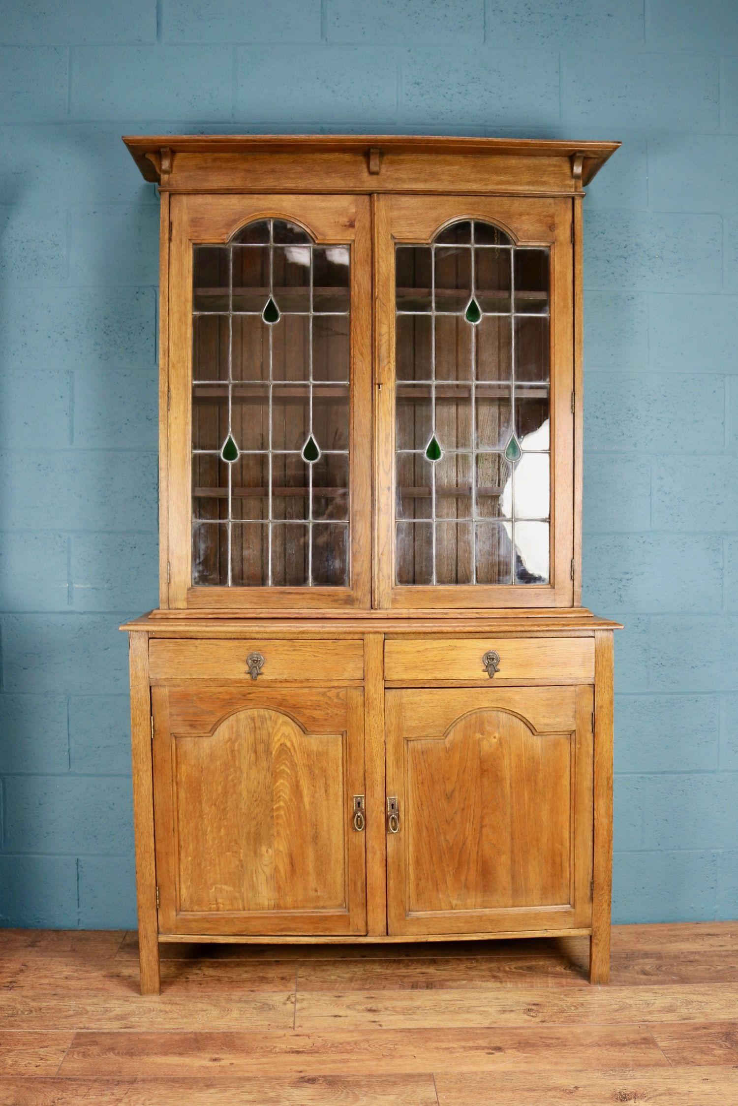 Oak Glazed Bookcase I