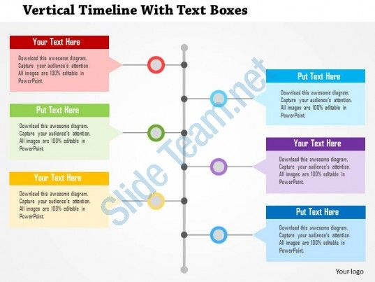 vertical timeline with text boxes flat powerpoint design Slide01 - powerpoint timeline